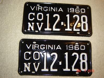 Picture of 1960 Virginia Car Pair #conv12-128