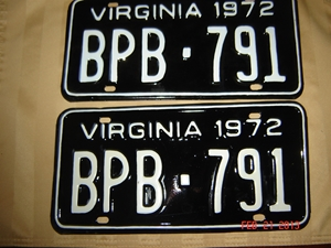 Picture of 1972 Virginia Car Pair #BPB 791