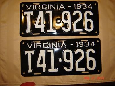 Picture of 1934 Virginia Truck Pair #T41-926