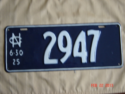 Picture of 1925 North Carolina Car Single #2947