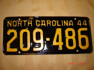 Picture of 1944 North Carolina Car #209-486