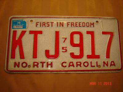 Picture of 1975 North Carolina Car #KTJ-917