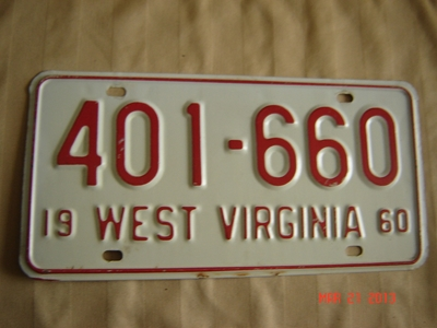 Picture of 1960 West Virginia Car #401-660