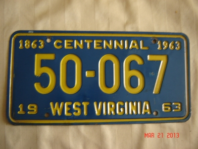 Picture of 1963 West Virginia Car #50-067