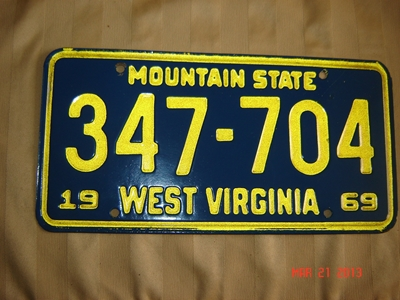 Picture of 1969 West Virginia Car #347-704
