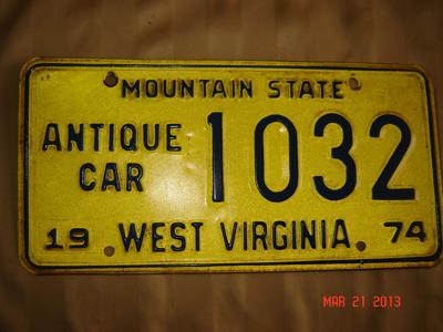 Picture of 1974 West Virginia Antique Car #1032