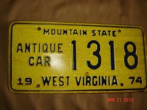 Picture of 1974 West Virginia Antique Car #1318