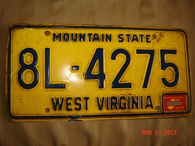 Picture of 1975 West Virginia Car #8L-4275