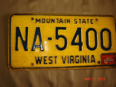 Picture of 1975 West Virginia Car #NA-5400