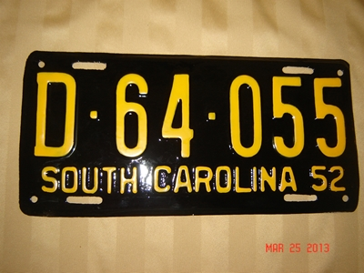 Picture of 1952 South Carolina Car #D-64-055