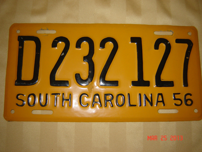 Picture of 1956 South Carolina Car #D232127