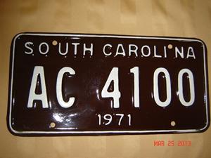 Picture of 1971 South Carolina Car #AC4100