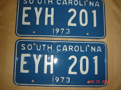 Picture of 1973 South Carolina Car Pair #EYH 201