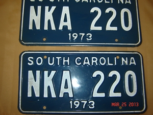 Picture of 1973 South Carolina Car Pair #NKA 220