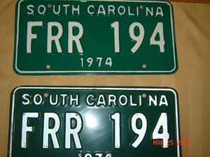 Picture of 1974 South Carolina Car Pair #FRR 194