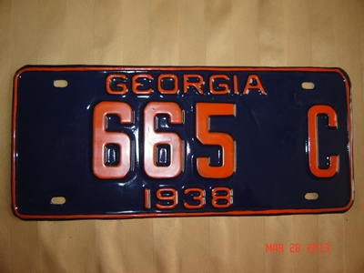 Picture of 1938 Georgia #665C