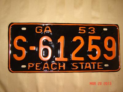 Picture of 1953 Georgia #S-61259