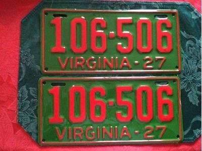 Picture of 1927 Virginia Passenger Pair #106-506