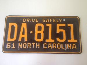 Picture of 1961 North Carolina Car #DA-8151