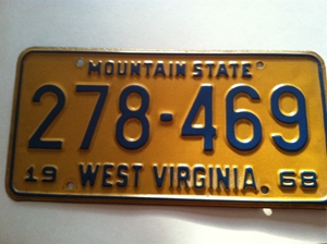 Picture of 1968 West Virginia Car #278-469