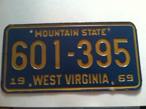 Picture of 1969 West Virginia Car #601-395