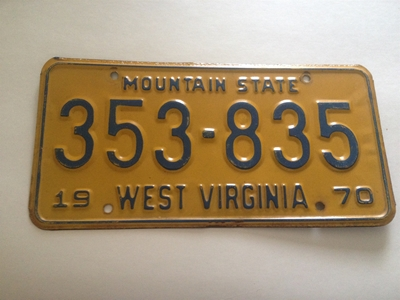 Picture of 1970 West Virginia Car #353-835