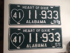 Picture of 1955 Alabama Pair #41 11-933