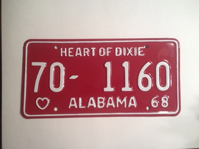 Picture of 1968 Alabama #70-1160