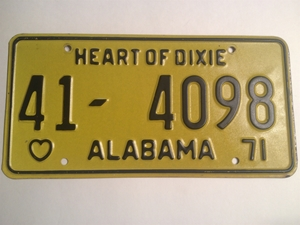 Picture of 1971 Alabama #41-4098