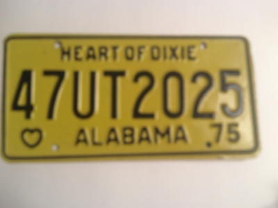 Picture of 1975 Alabama #47UT2025