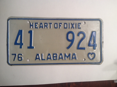 Picture of 1976 Alabama #41-924