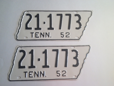 Picture of 1952 Tennessee Pair #21-1773