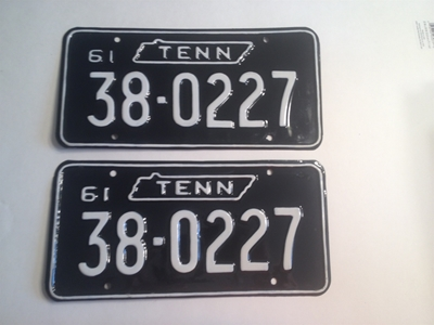 Picture of 1961 Tennessee Pair #38-0227