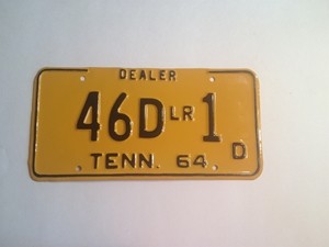 Picture of 1964 Tennessee #46D LR 1 D