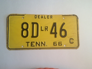 Picture of 1966 Tennessee #8D LR 46 C