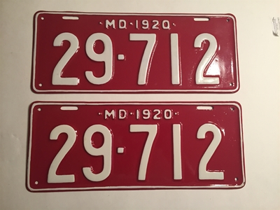 Picture of 1920 Maryland Pair #29-712