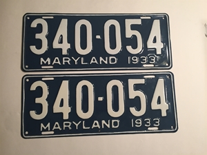 Picture of 1933 Maryland Pair #340-054