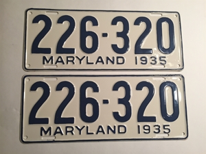 Picture of 1935 Maryland Pair #226-320
