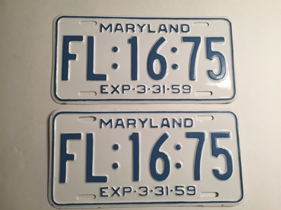Picture of 1959 Maryland Pair #FL-16-75