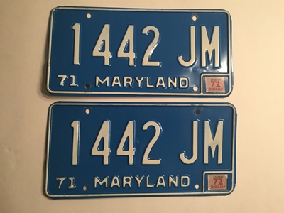 Picture of 1971 Maryland Truck Pair #1442-JM