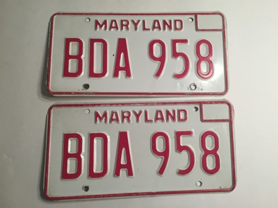 Picture of 1976 Maryland Pair #BDA-958