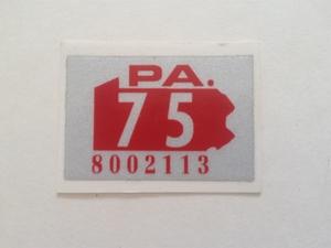 Picture of 1975 Pennsylvania Registration Sticker