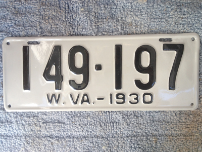 Picture of 1930 West Virginia Car #149-197