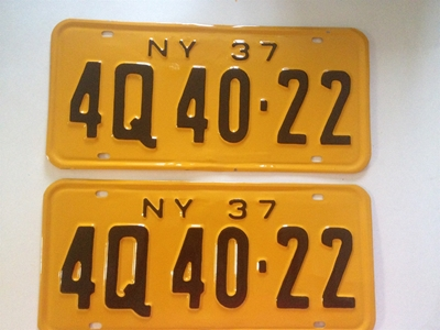 Picture of 1937 New York Pair #4Q 40-22
