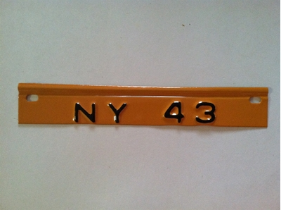 Picture of 1943 New York License Plate Tab