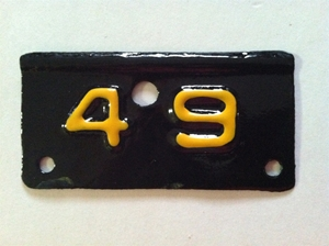 Picture of 1949 New York License Plate Tab