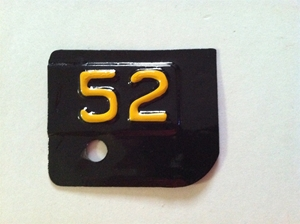 Picture of 1952 New York License Plate Tab