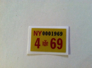 Picture of 1969 New York Registration Sticker