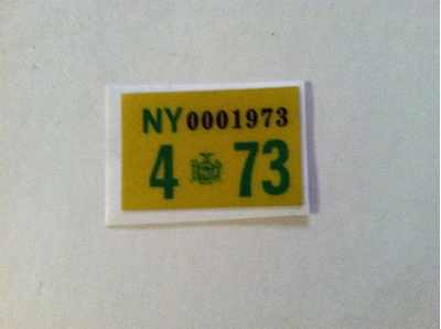 Picture of 1973 New York Registration Sticker