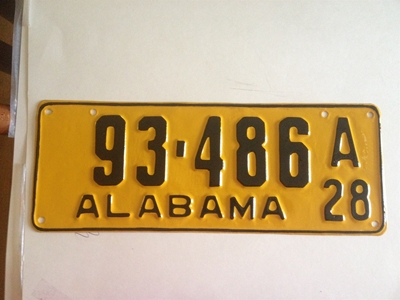 Picture of 1928 Alabama #93-486A
